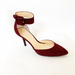 Liz Claiborne Burgundy Ankle Strap Heel